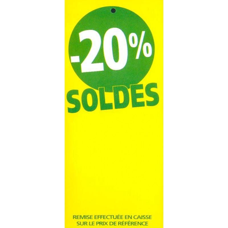 Étiquette  Soldes  fluo jaune -20%