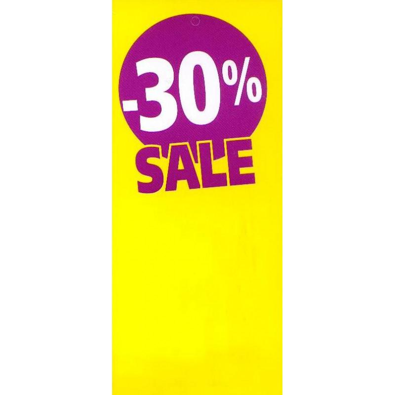 Étiquette  Soldes  fluo jaune -30%