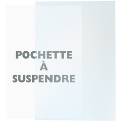 Pochette PVC A4 à suspendre
