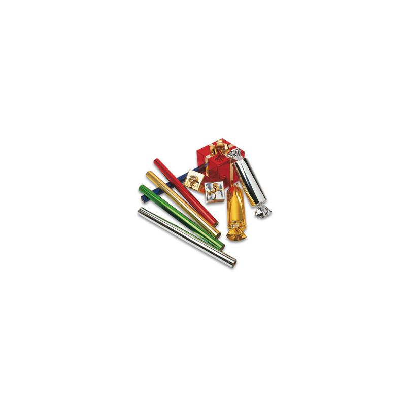 PVC métallisé rouge  et Argent  70cm
