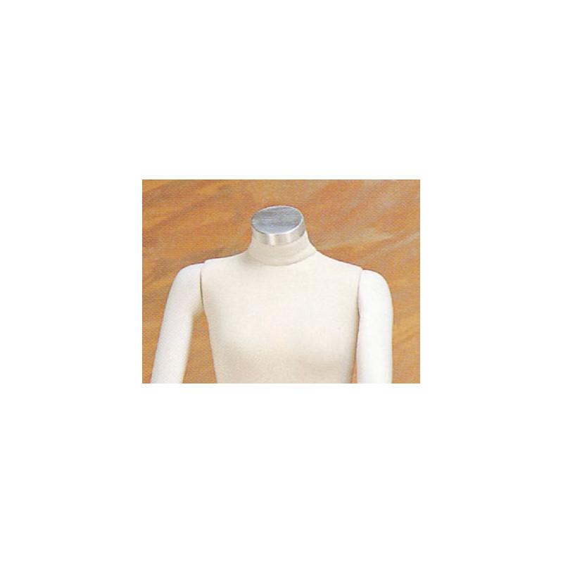 Manchon alu brossé pour femme pour mannequin flexible