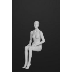 Mannequin Femme assise Cheveux sculptés -position B
