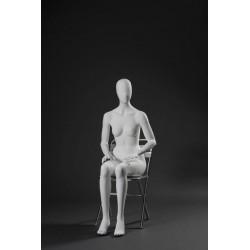Mannequin Femme Assise Tête...