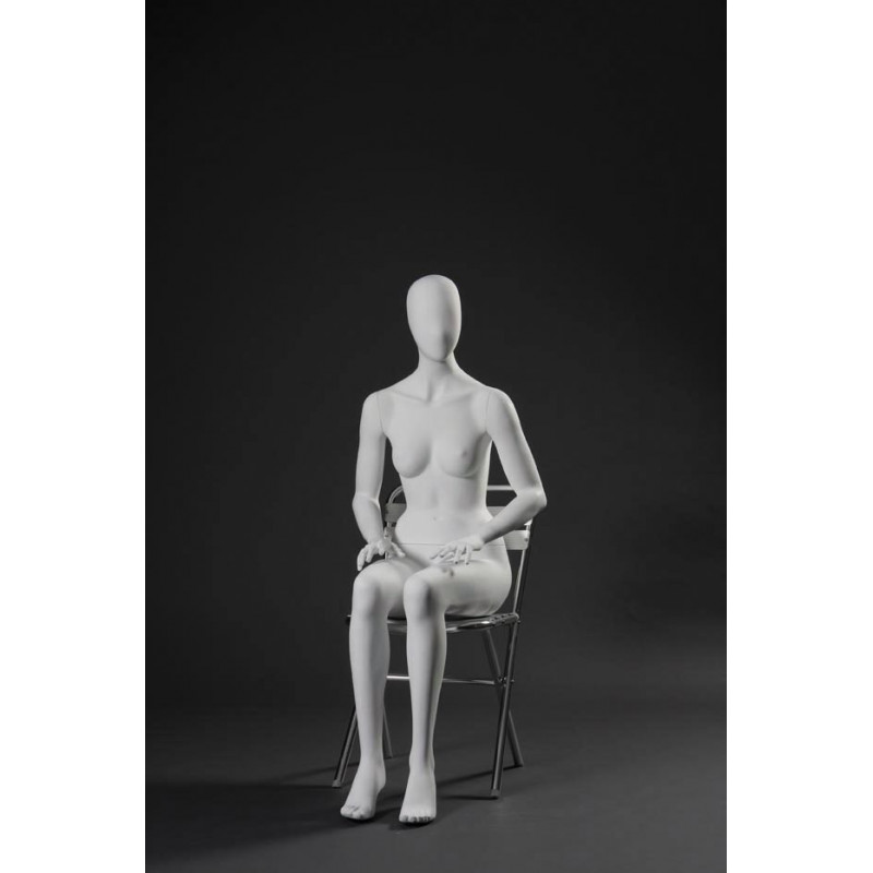 Mannequin Femme Assise Tête stylisée type 32