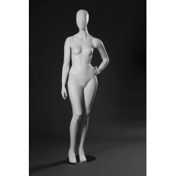 Mannequin Illusion Femme Tête stylisée, blanc