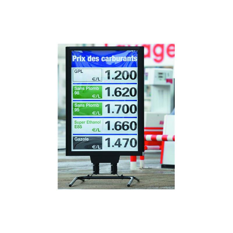 """Chevalet extérieur """"prix carburants"""" 160x120cm"""