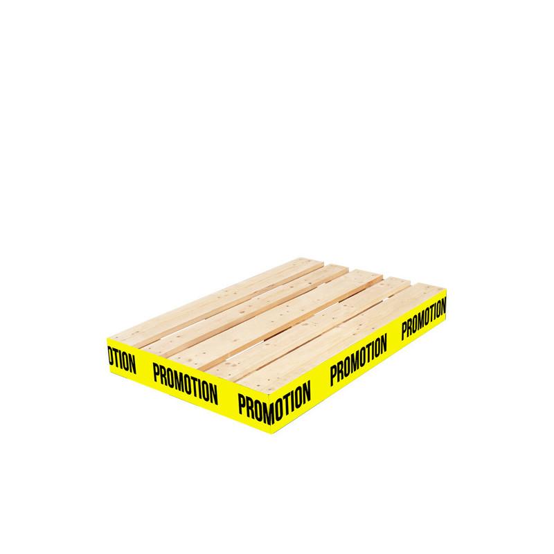 """Rouleau de cache palette 15 cm """"PROMOTION"""" fond jaune"""