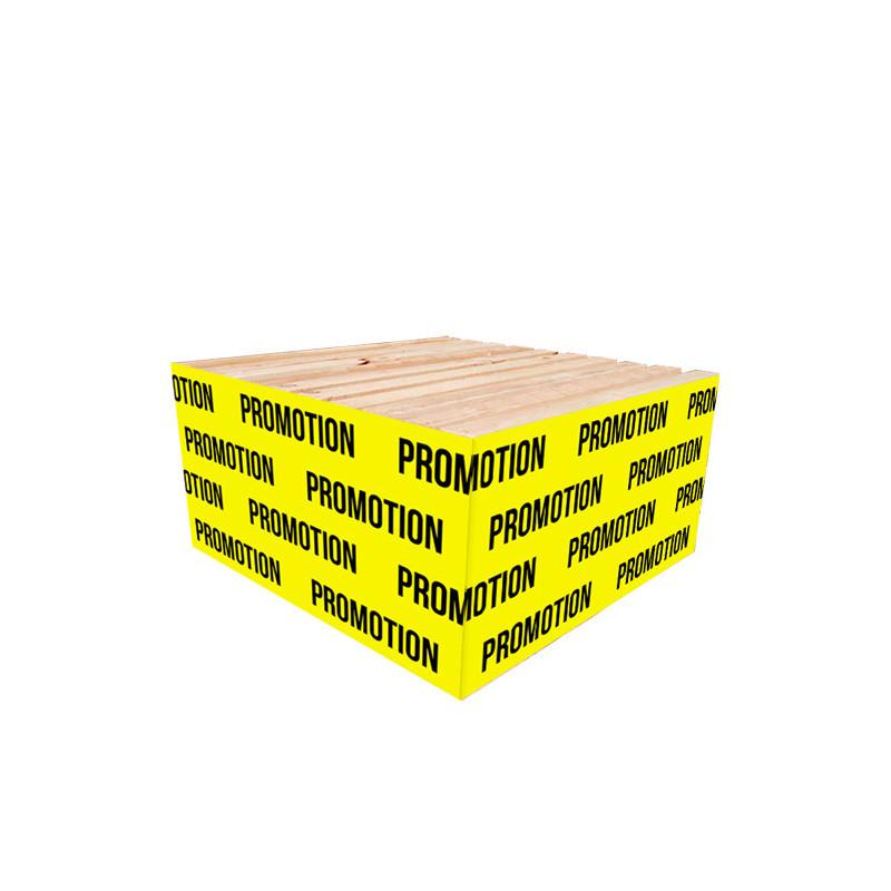 """Cache palette 60 cm """"PROMOTION"""" fond jaune"""