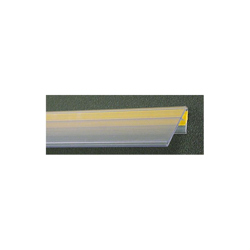 Profil porte étiquettes adhésif incliné 1330X40mm