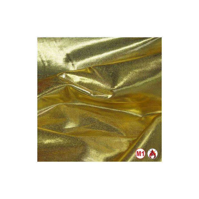 "Tissu ignifugé 300cm M1 ""ORGANZA"" or grande largeur"