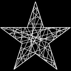 Étoile résine 2D 5 branches 200 cm -décoration de noël