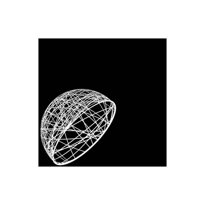 Demi sphère résine 50 cm -décoration de Noel