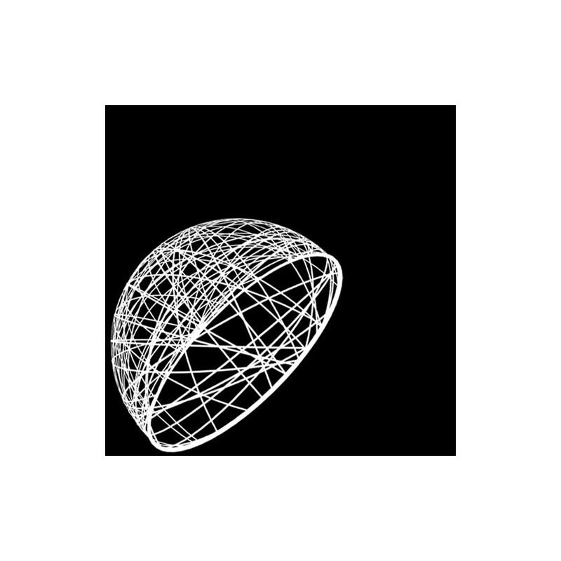 Demi sphère résine 75cm - décoration de Noel