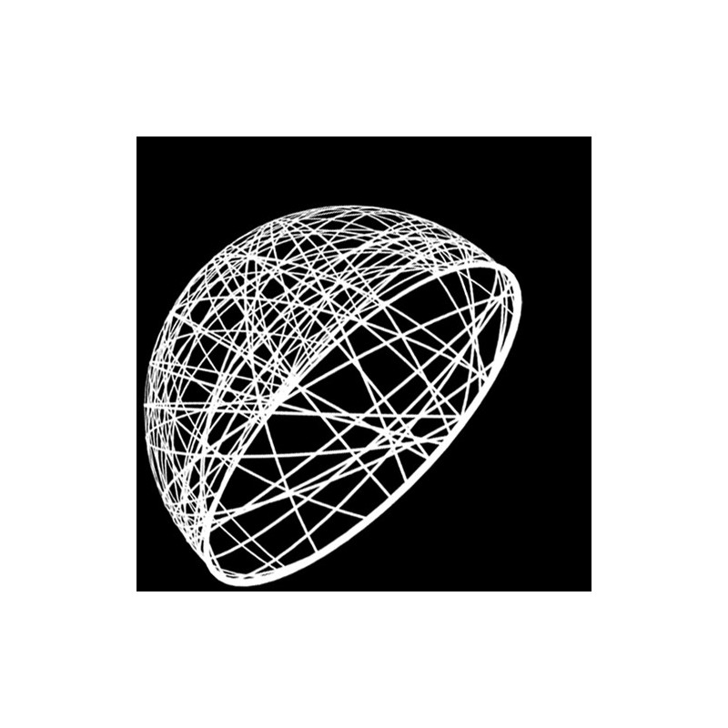 Demi sphère résine 100cm - décoration de Noel