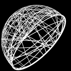 Demi sphère résine 130cm - décoration de Noel