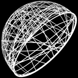 Demi sphère résine 160cm - décoration de Noel