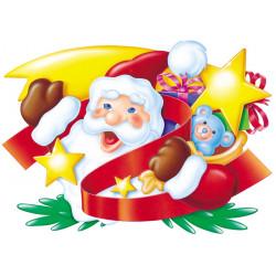 Décor de Père Noël à suspendre de 66 x 96 cm