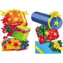 Kit de 2 décors de cadeaux