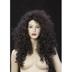 Perruque femme longue brune...