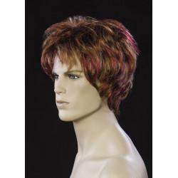 Perruque homme cheveux châtain