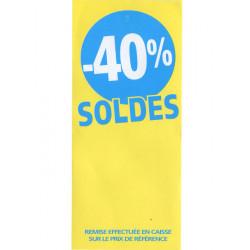 Étiquette  Soldes  fluo jaune -40%