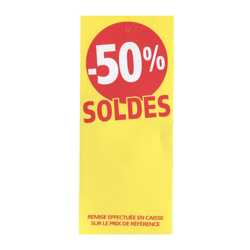 Étiquette  Soldes  fluo jaune -50%