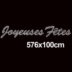 """Texte """" Joyeuses Fêtes""""  longueur 576 cm"""