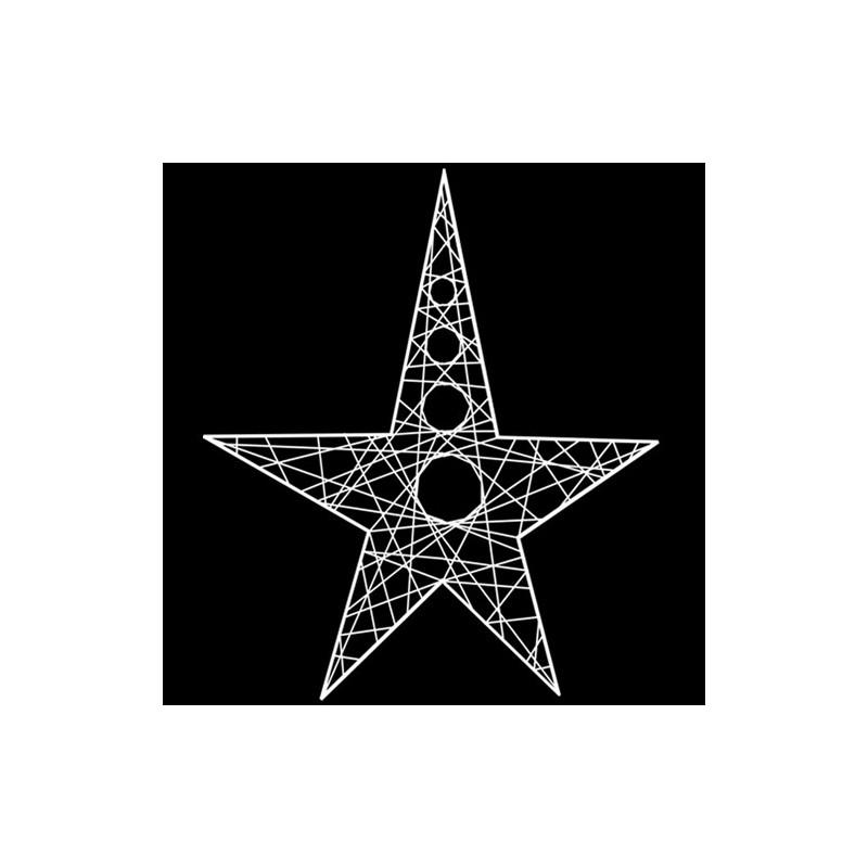 Étoile ajourée en résine 60 cm - décoration de noël