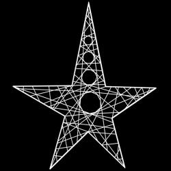Étoile ajourée en résine 60 cm -décoration de noël