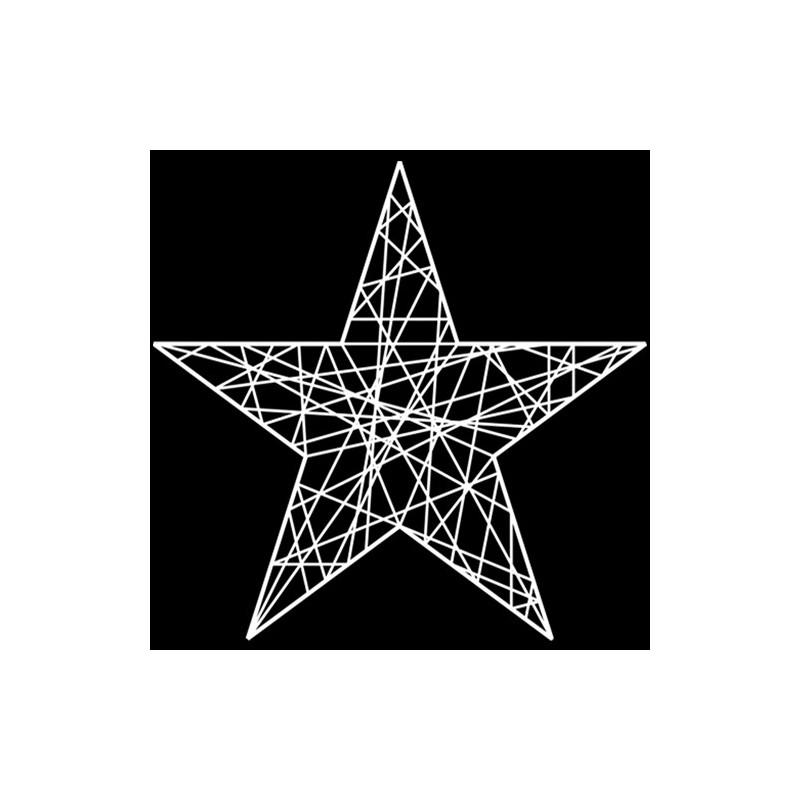 Étoile résine 2D 5 branches 50 cm -décoration de noël