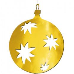 Boule 40 cm évidée aux motifs d'étoile