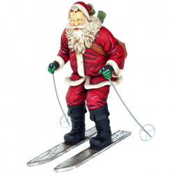 Père Noël Skieur 155 cm