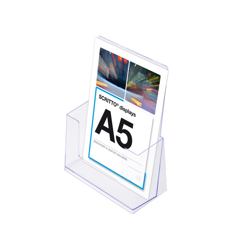 Porte brochure plexi A5 pour comptoir