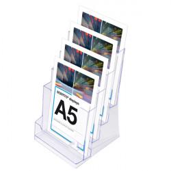 Porte brochure A5 : 4 niveaux