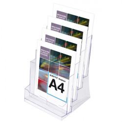 Porte brochure A4 : 3 niveaux