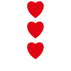 Descente 80 cm de 3 cœurs...