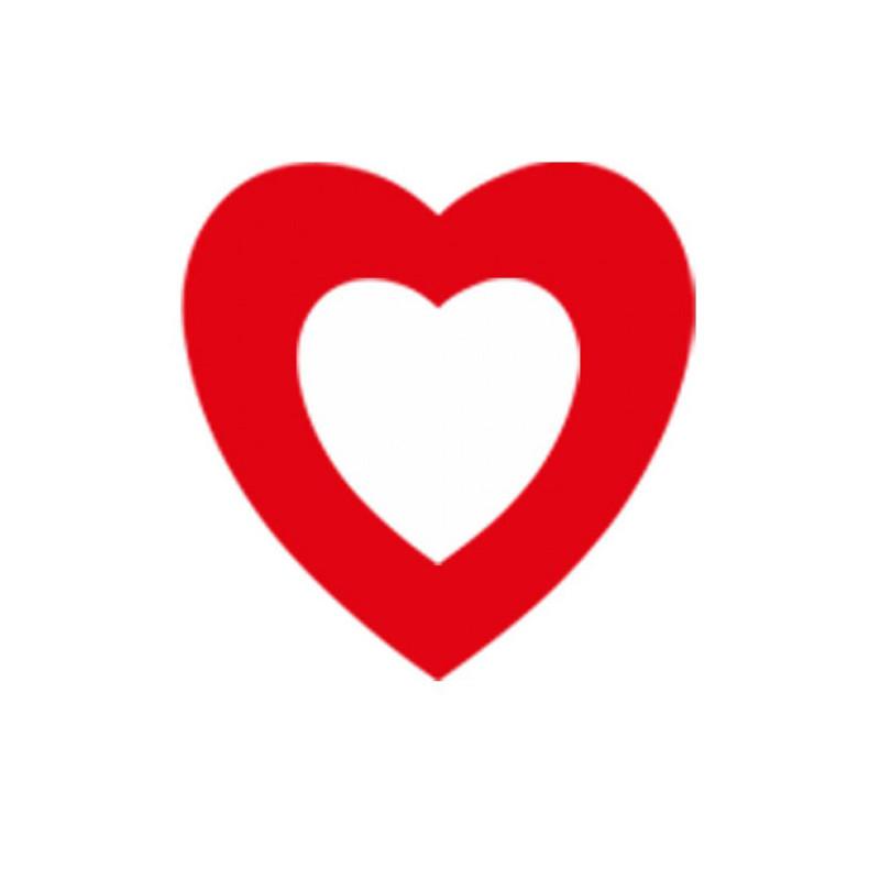 Cœur rouge évidé de 30 cm en papier ignifugé M1