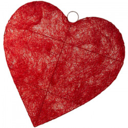 Coeur en SISAL 120cm