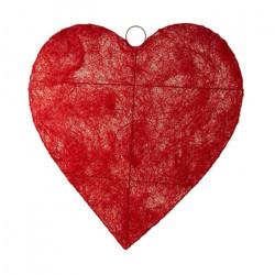 Superbe cœur de 60 cm en sisal