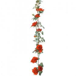 Guirlande de roses rouges...
