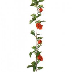 Guirlande de roses rouges 180cm