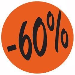 Étiquette adhésive fluo rouge  -60%