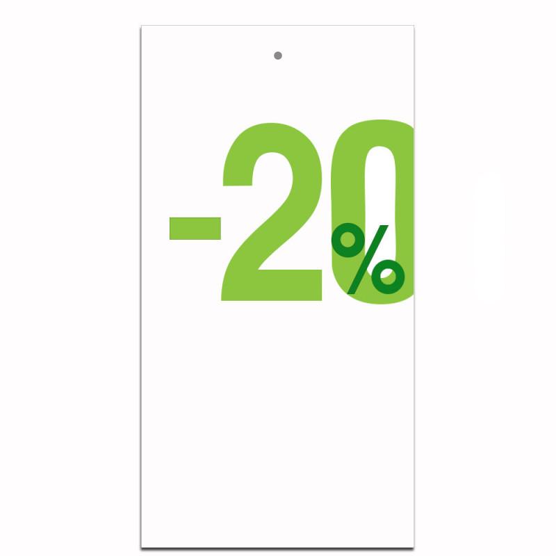 Étiquettes carton -20%