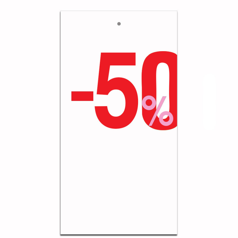 Étiquettes carton -50%