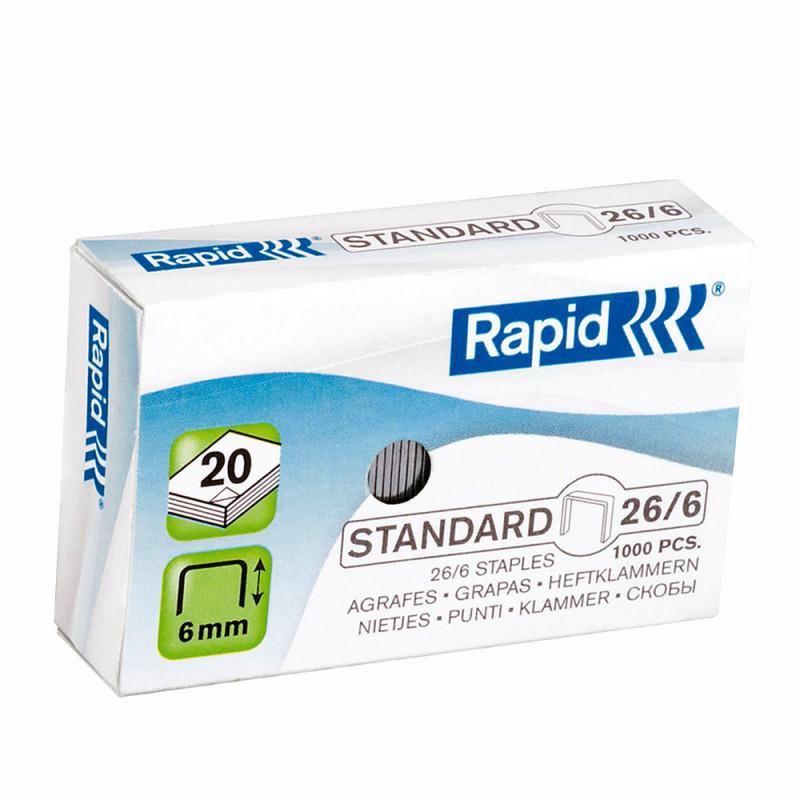 boite de 5000 agrafes de la marque Rapid -26/6mm