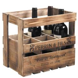 Caisse à bouteilles en bois...