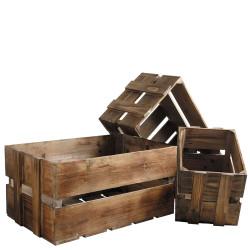 Set de 3 Caisses en bois...