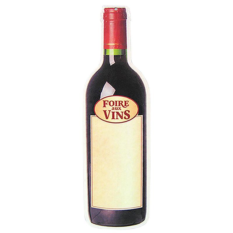 Bouteille de vin 68 cm, en Carton découpé.