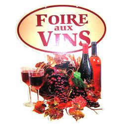 """Panneau """"Foire aux vins""""..."""