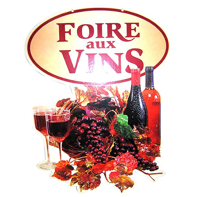 """Panneau """"Foire aux vins""""  hauteur 68 cm"""